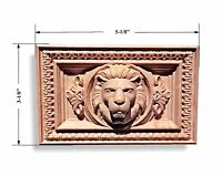 Lion Head Rectangular Rosette /aplique 5-1/8 X 3-1/8 X 1. Maple, Cherry, Oak