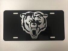 Chicago Bears LOGO 2 Car Tag Diamond Etched on Aluminum License Plate