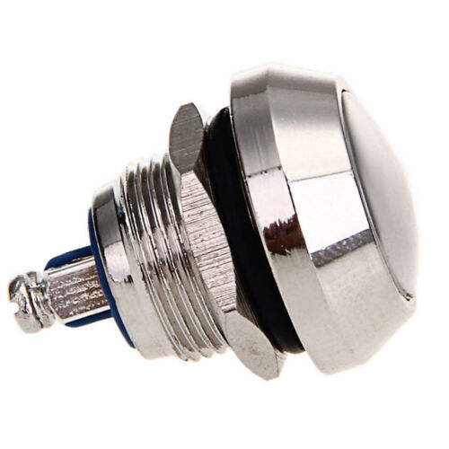 5Pack 12mm Toggle Switch Horn Momentary Push Button Stainless Steel Metal