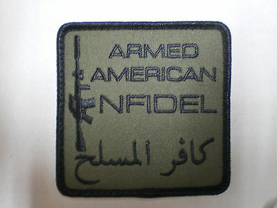 Punisher Armed American Infidel  Military Tactical Combat  Patch Made In The USA