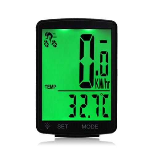 Bicycle Computer Bike Speedometer Odometer Wireless 2.8/'/' Screen Backlight G0G2