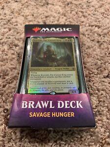 New-Sealed-Savage-Hunger-Brawl-Deck-Throne-of-Eldraine-Magic-the-Gathering-MTG