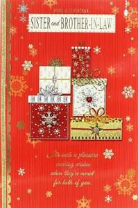 Christmas Gifts For Brother And Sister In Law.Details About Sister Brother In Law Christmas Card Traditional Gifts Snowflakes 9 X 6