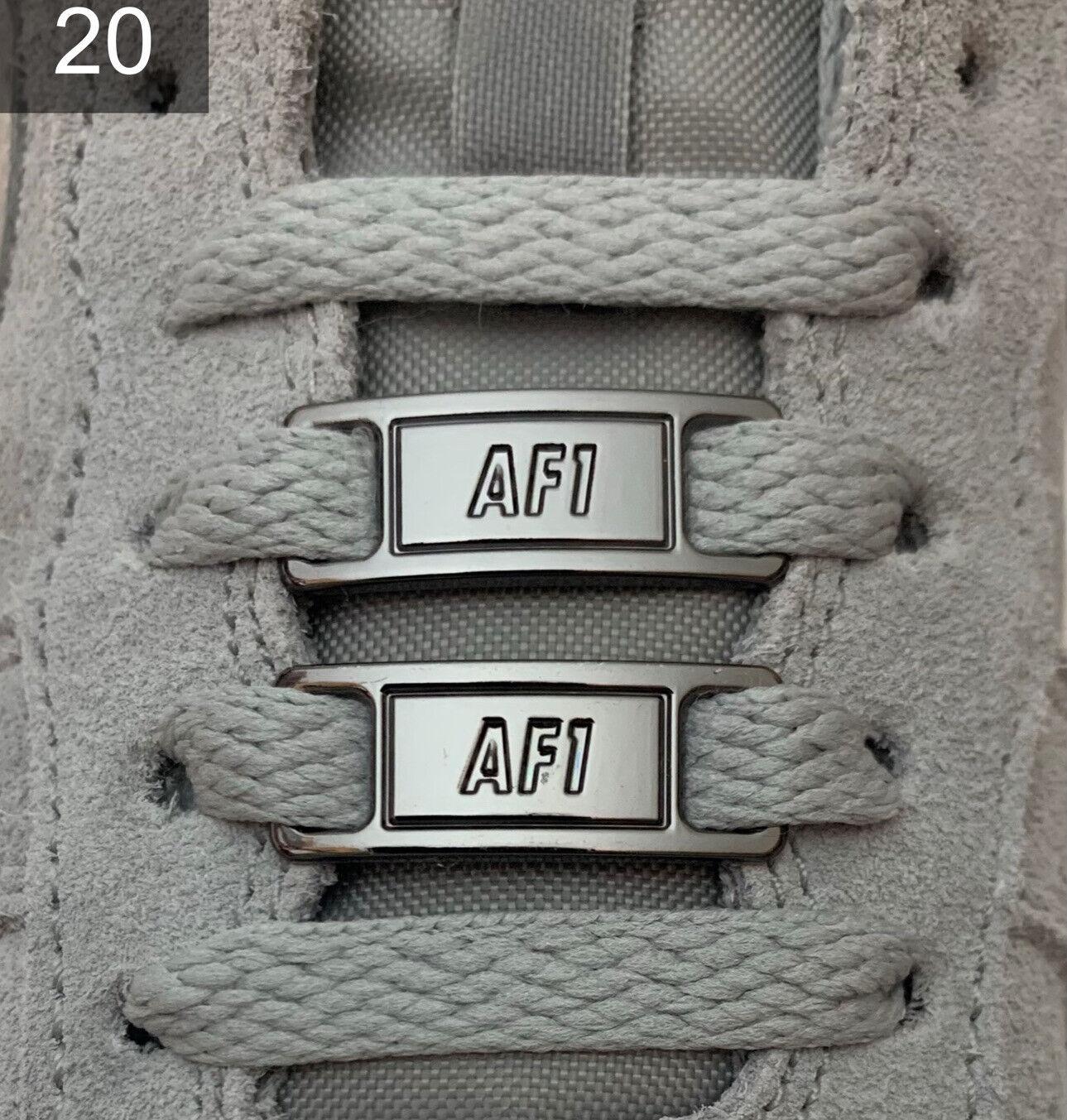 ❤ nuevas nike Air Force 1 hebillas Lace Locks Buckles negro plata 2 unid. ✅