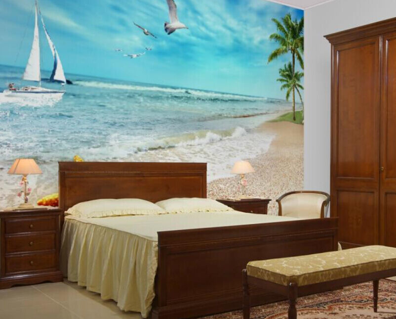3D Beach boat tree 1159 Paper Wall Print Decal Wall Wall Murals AJ WALLPAPER GB
