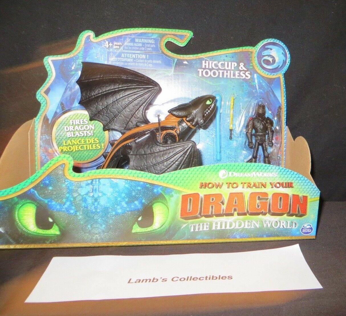 How to train your Dragon 3 The Hidden World Hiccup & Toothless dragon blast toy