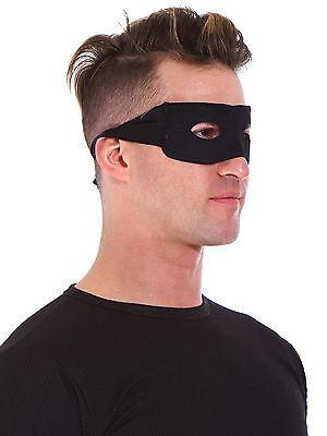 Black Eye Mask Adult Mens Eye Mask Bandit Zorro Halloween Costume Fancy Dress
