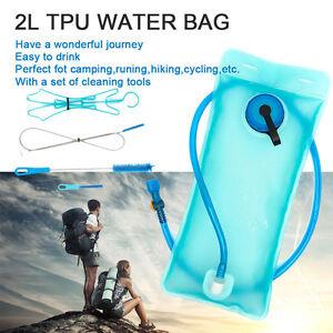 2L Water Bladder Backpack Hydration System Camel bak Pack Bag Camping Hiking UK