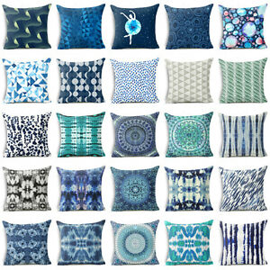 Blue-Bohemia-Cotton-Linen-Pillow-Case-Cover-Sofa-Waist-Cushion-Car-Cover-Case