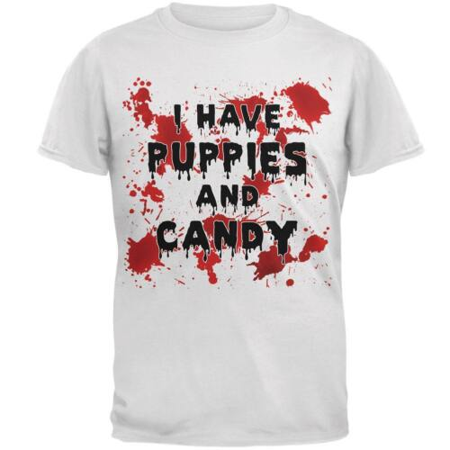 Halloween I Have Puppies and Candy Blood Splatter Mens T Shirt