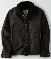 American Eagle Men's Sherpa Lined Trucker Jacket Coat Small Or Medium