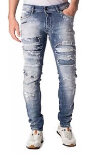 Diesel-Tepphar-0671J-W32-L32-LIMITED-EDITION-Patched-Carrot-Slim-100-Authentic