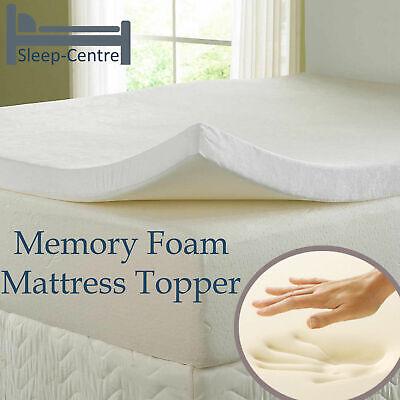 5FT Kingsize Cool Blue Memory Foam Topper Available in all Depths