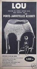 PUBLICITÉ 1958 LOU PORTE-JARRETELLES ASSORTI SOUTIEN-GORGE BUSTIER - ADVERTISING