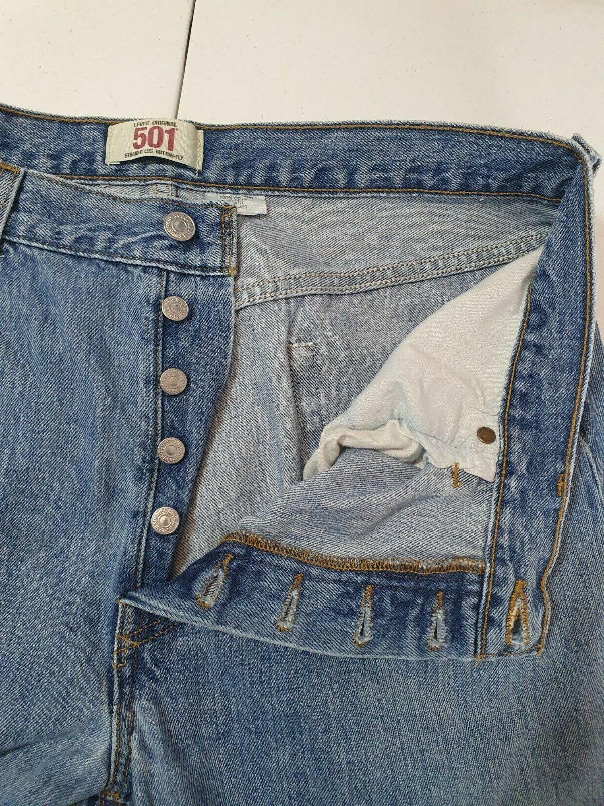Vintage  Levis 501 XX Jeans Mens 36x30 Distressed… - image 6