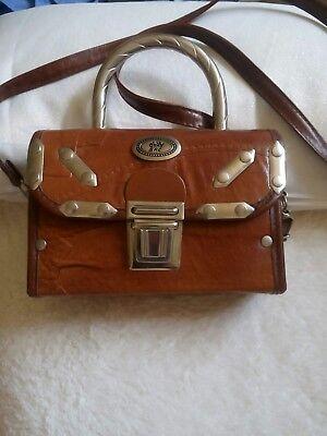 0kay Sac Handtasche Cognacfarben Mit Metallbeschlägen Exklusive Tasche Neu !