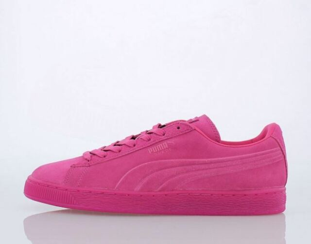 00cd18513a0 PUMA Mens Suede Emboss Iced Fluo Fashion SNEAKERS Beetroot Purple ...