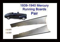 Mercury Merc Steel Running Board Set 39,40 1939-1940 - Made In Usa 16 Gauge