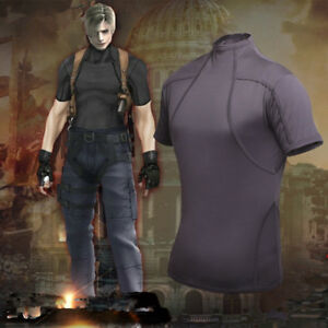 Details About Resident Evil 4 Leon Kennedy S Tactics Tee T Shirt Cosplay Costume Tight Top
