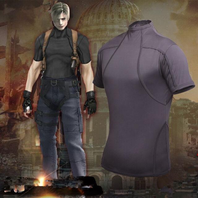 Resident Evil 4 Biohazard Leon Kennedy Grey Tee T Shirt Cosplay Costume S M L Xl S For Sale Online Ebay