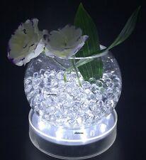 """4"""" Round White Vase Base Light for Wedding Centerpiece Event Decoration w/15led"""