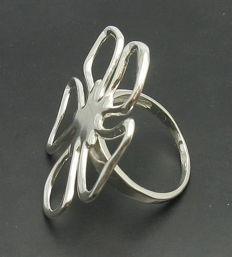 Sterling silver ring solid 925 Flower R000554 Empress