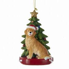 Golden Retriever w/Tree Ornament