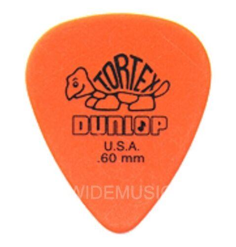 Pack of 12 Picks Plectrums 0.60mm Dunlop TORTEX Guitar Picks