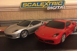 Scalextric Digital Ferrari F430 Paquet double C2847 Entièrement réparé Tresses neuves 5010963528478