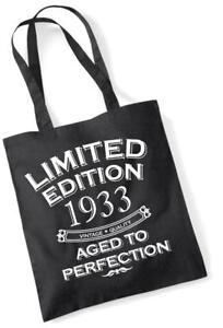 84th Geburtstagsgeschenk Tasche Einkaufstasche Limitierte Edition 1933