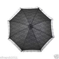 New Handmade Black Battenburg Lace Flower Girls Parasol Wedding Party Umbrella