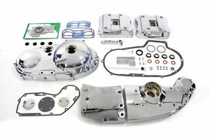 CHROME-ENGINE-DRESS-UP-PRIMARY-CAM-ROCKER-COVER-KIT-91-93-HARLEY-SPORTSTER-XL