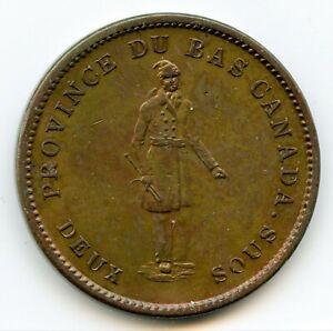 Breton-521-1837-City-Bank-One-Penny-Token-CH-LC-9A3-Courteau-10a-ICCS-AU-55