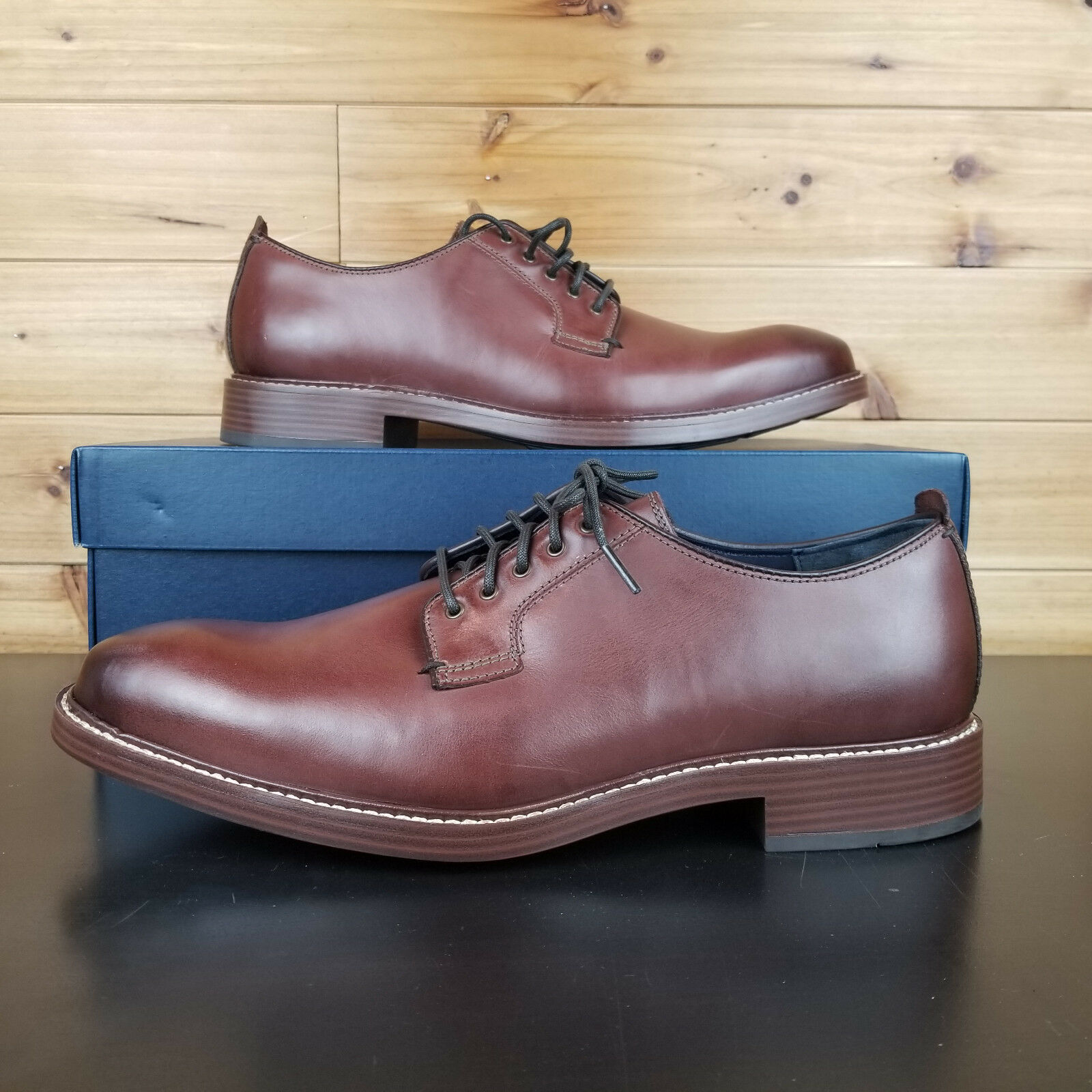 NEW COLE HAAN MENS KENNEDY GRAND POSTMAN OXFORD MAHOGANY