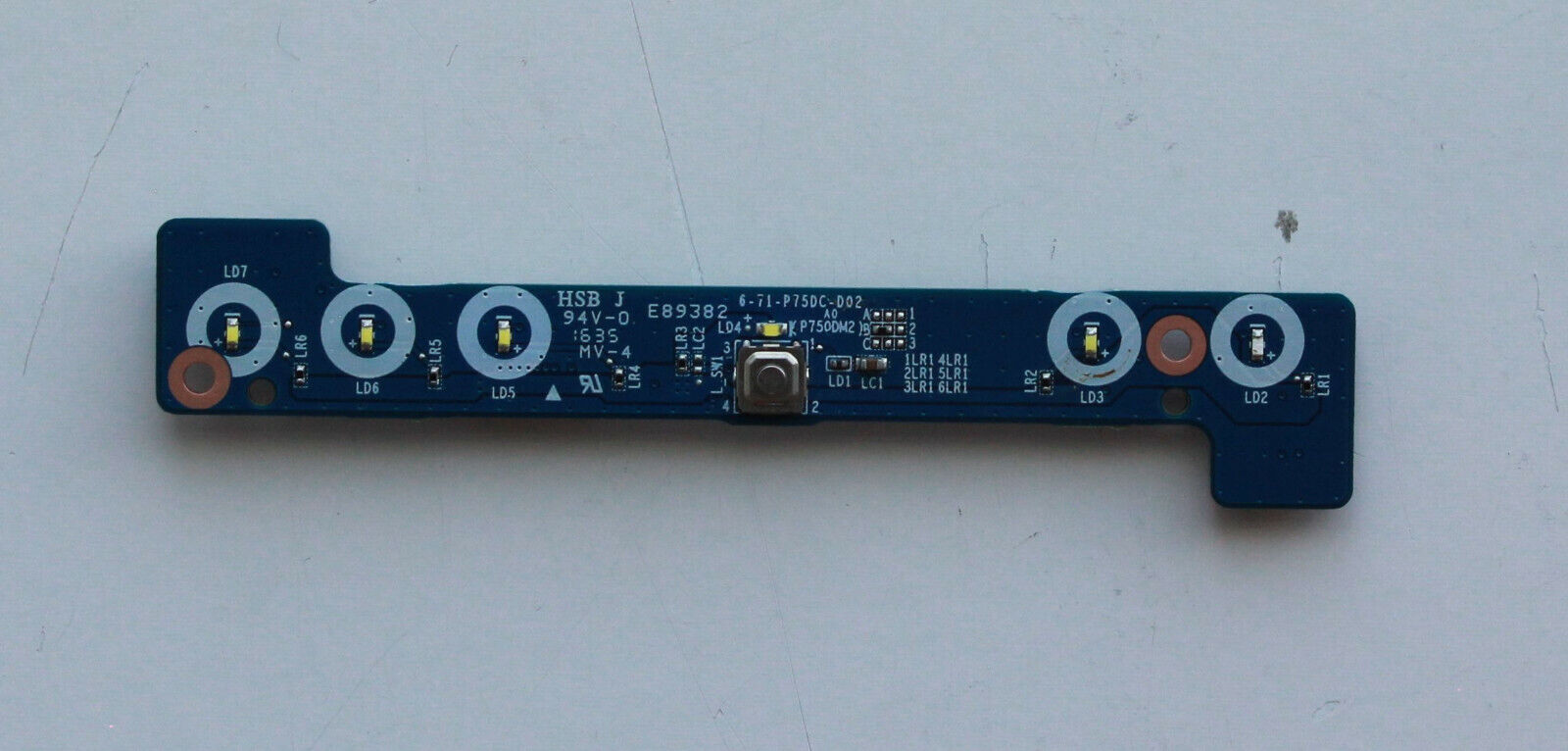 CLEVO P751DM2-G Power Button Board with LED 6-71-P75DC-D02 (B128)