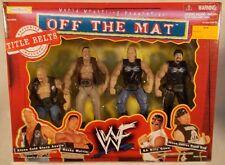 WWF WWE Off The Mat The Rock,Stone Cold Steve Austin,Billy Gunn,Road Dogg -Belts