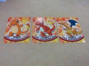 1999-Topps-Pokemon-evolution-04-Charmander-05-Charmeleon-06-Charizard