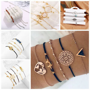 Conjunto-de-joyas-de-mujer-Pulseras-de-cadena-de-cristal-de-piedra-cuerda-moda