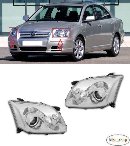 Pour Toyota Avensis T25 2003-2006 2X Nouveau Front Projecteurs à Gauche Droit LHD
