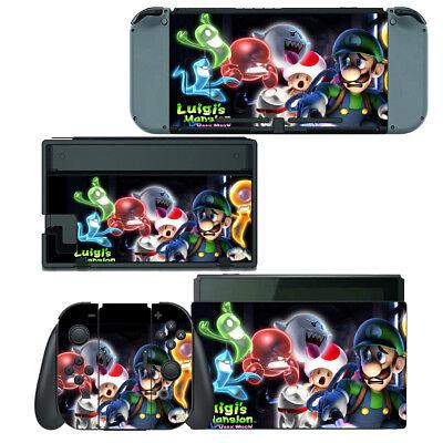 Luigi S Mansion Dark Moon Nintendo Switch Skin Decal Sticker Vinyl Wrap Ebay