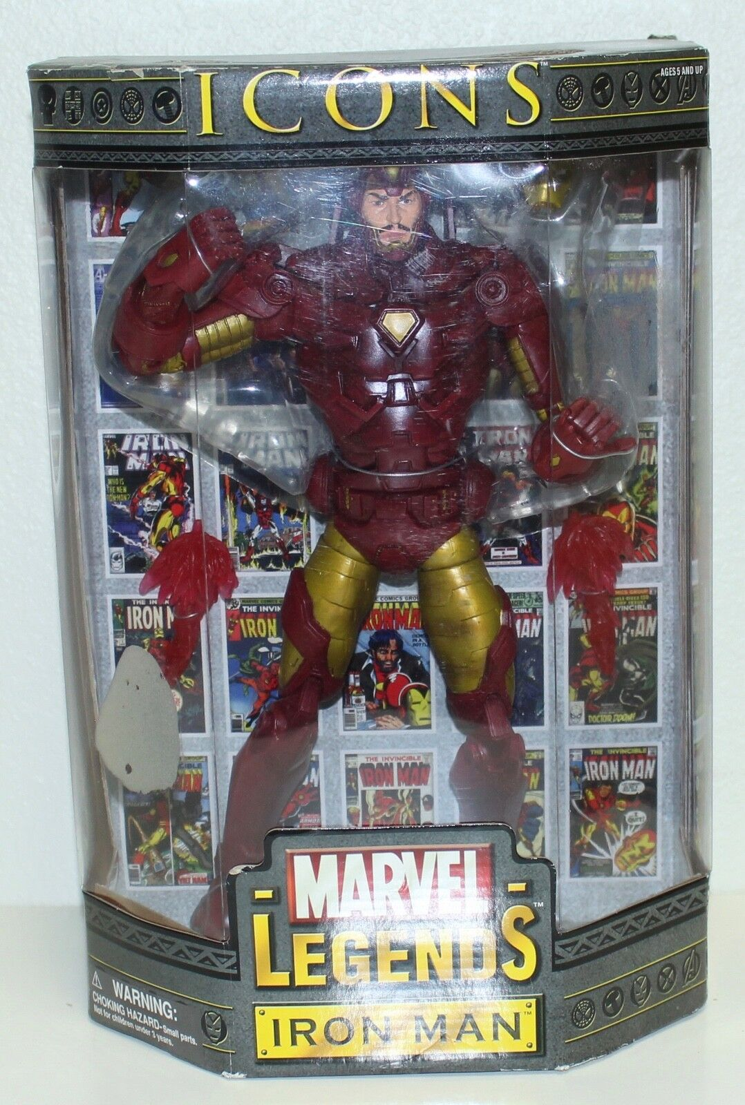 Marvel Legends Icons Iron Man 12  Action Figure New In Box Very Rare
