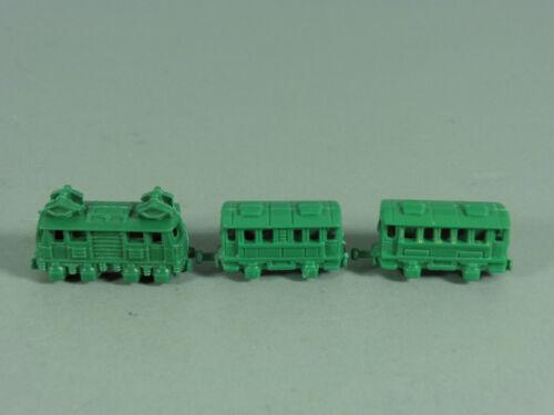 Miniatureisenbahnen mit Anhängern EU 1990 LOKS Elektrolok grün