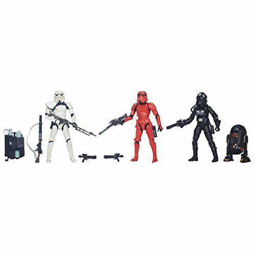 Star Wars nero Series 6 Pulgadas Figuras 4 paquete de acción Pintado provisional F