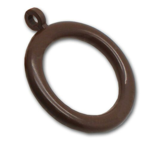 20x BROWN CURTAIN RINGS FIXED EYELET 28mm//40mm Pole Drapes Voile Rail Hook Loop