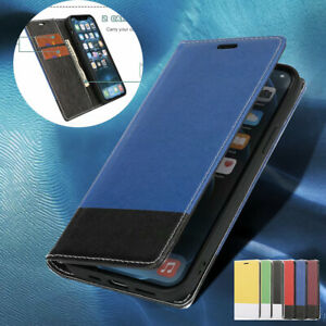 For iPhone 12 Mini 11 Pro Max SE 7 8 XS XR Case Leather Wallet Flip Cover
