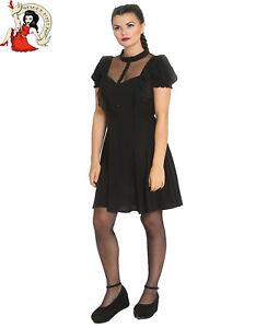 Hell Bunny Elana Mini Robe Soiree Occasion Noir Xs 4xl Ebay