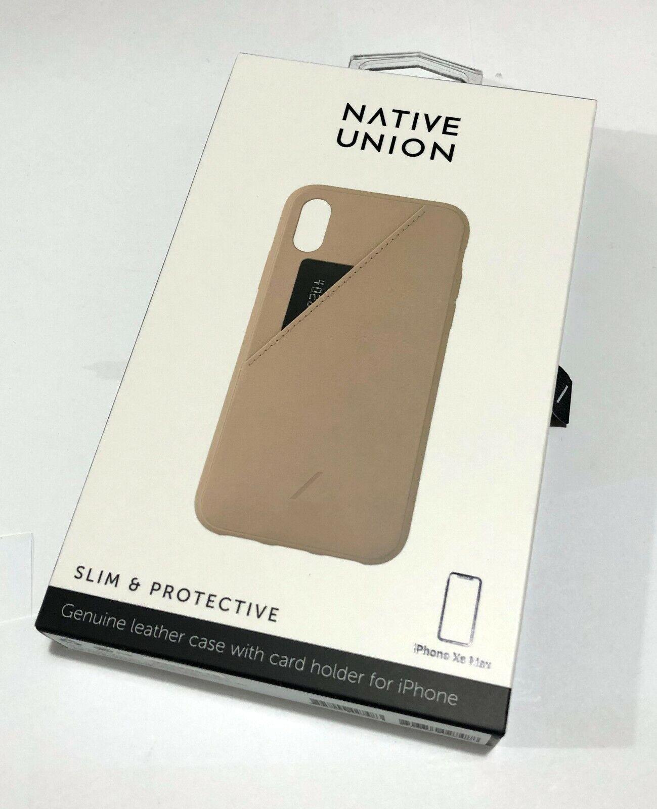 Native Union Funda de Piel Clic Marquetry iPhone XR Negro