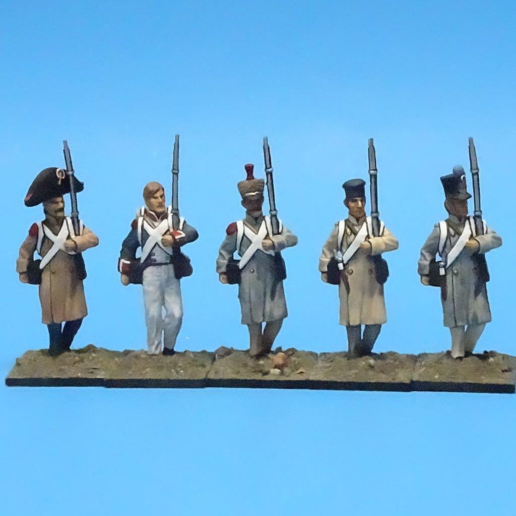MI-448 - French Line Infantry - Napoleonic (5 figs) - All the King's Men