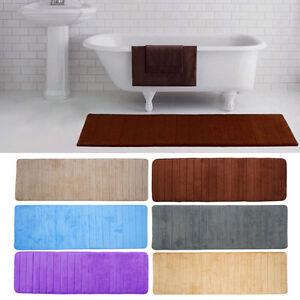 1*Memory Foam Washable Mat Bedroom Floor Pad Non-slip Bath Rug Mat Door Carpet