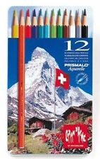 Caran D'ache Prismalo Aquarelle Watercolour Pencil 12 Colour Tin